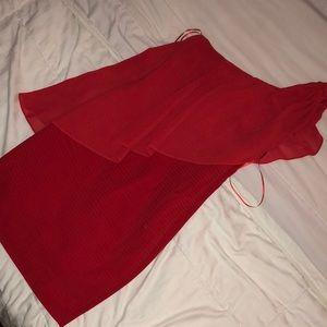 Gianni Bini Dresses - 🔥NWT GIANNI BINI One should red fitted dresses